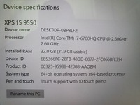 Used DELL XPS 15 9550 in Dubai, UAE