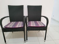 Used 1 pair of chairs new(original 100 peice) in Dubai, UAE
