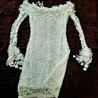 Used MS Offshoulders Lace Dress S8uk 15dhs in Dubai, UAE