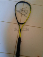 Used Squash racket dunlop with two balls in Dubai, UAE