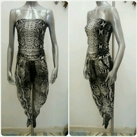 Used Jumpsuit Chob Snake Print Summer Wear Av in Dubai, UAE