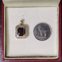 Used Authentic Garnet/Diamond Pendant in Dubai, UAE