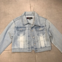 Used Cropped Denim jacket  in Dubai, UAE