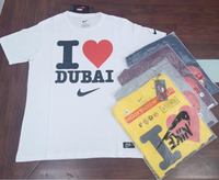 Used T-shirt I love dubai large 5 pcs in Dubai, UAE