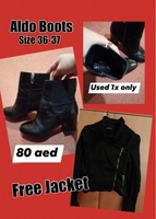Used Also Boots plus free jacket  in Dubai, UAE