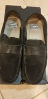 Used LACOSTE black leather man shoes in Dubai, UAE