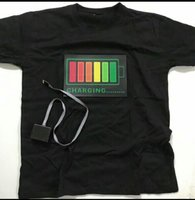 LED light voice activated music t shirt