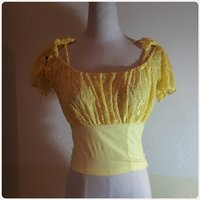 Cropt top yellow color brand new