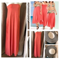 Used 3 in 1 coral dress/skirt size EU 44/UK10 in Dubai, UAE