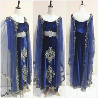 Used Unique elegant velvet blue long dress. in Dubai, UAE