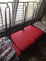 6 chair red and black with cover