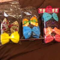 Used crochet hair clips 4 piece 35 AED in Dubai, UAE