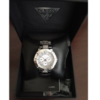 Guess Stainless Steel Watch With Stones