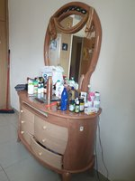 Used King bed + materes + dressing table in Dubai, UAE