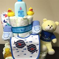 Used baby diaper cake for baby shower in Dubai, UAE