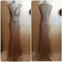Elegant long dress...biege/golden