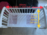 Used Baby cradle with mattress in Dubai, UAE