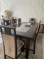 Used 8 seater Dinning table and its buffet in Dubai, UAE