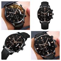 Used Shaarms men's quartz watch black in Dubai, UAE