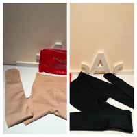 Used Stockings 2 pair black and skin one size in Dubai, UAE