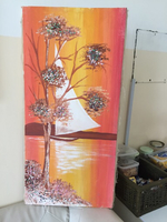 Used Acrylic hand made Mex Media painting in Dubai, UAE