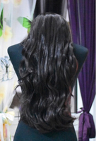 Used Long Wavy Dark Brown Wig/ 65cm in Dubai, UAE