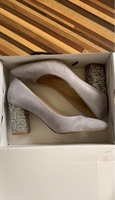 Used Aldo grey shoes with stone heels in Dubai, UAE