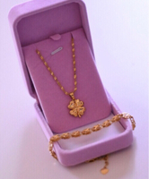 Used Four Leaf Clover Necklace + Bracelet  in Dubai, UAE