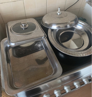 Used 2 lightweight aluminium serving dishes in Dubai, UAE