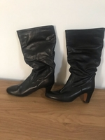 Used Black leather boots in Dubai, UAE