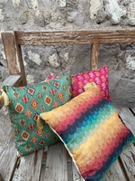 Used 3 piece set boho silk cushion covers  in Dubai, UAE