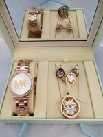 Used MK LADIES WATCH WITH NECKLESS ROSEGOLD  in Dubai, UAE