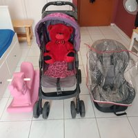 Used Juniors stroller car seat and rocker 🎀 in Dubai, UAE