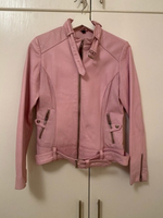 Used pink leather jacket from Xti size M  in Dubai, UAE