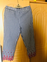 Used Zara Pants checkered- Medium 💙 in Dubai, UAE