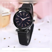 Used Beautiful black magnatic strap watch in Dubai, UAE