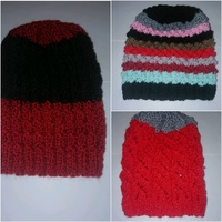 Used Hand knitted beanies (free size) in Dubai, UAE