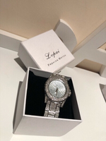 Used Lupai diamond look watch silver in Dubai, UAE