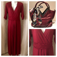 Used NEW DARK RED DRESS UK 16 bundle offer in Dubai, UAE