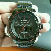 Naviforce Stainless Steel Watch BLACK RED