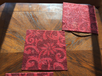 Used 4 big table mats +4 coaster bead work  in Dubai, UAE