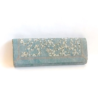 Rodo Denim and Crystals Clutch
