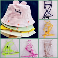 Used Children Bucket hats with face shield in Dubai, UAE