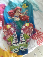 Used Kids Mermaid swimsuit suit and slippers  in Dubai, UAE