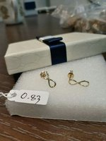 Used Infinity Ins.Earings 18k Real Gold Italy in Dubai, UAE