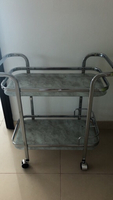 NEW & NOT USED glass & metal trolley