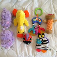Baby Toys 7pcs. Fisher Price You Key With Sounds, Playgro Ladybird And Zebra, Plus Other Soft Toys. All Used But In Perfect Condition.
