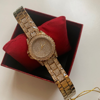 Used Gold rhinestone metal watch for ladies  in Dubai, UAE