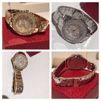 Bee sisters 2 pcs watches gold/silver