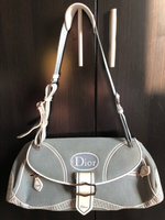 Used Dior Light Blue Canvas Vintage Bag in Dubai, UAE
